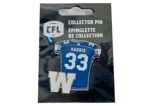 JF Harris #33 Jersey Pin