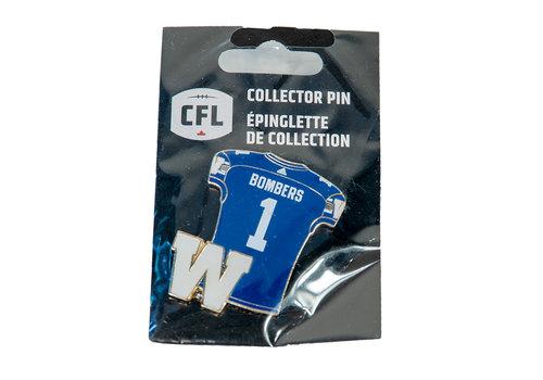 JF Bombers #1 Jersey Pin