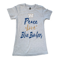 "Girls Glitter Peace ""Love"" Tee"