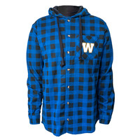Men's Plaid Shirt With Hood Size Small Only