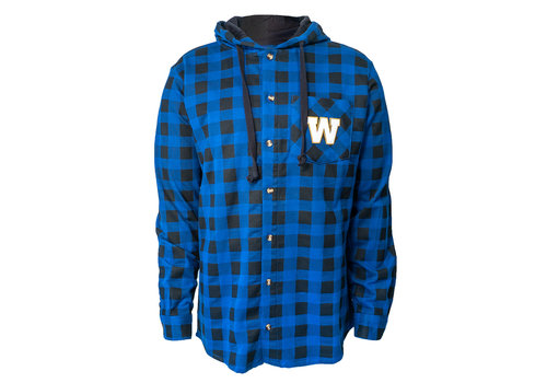 Bulletin Men's Plaid Shirt With Hood Size Small only