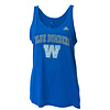 Adidas Ladies Faded Arch Royal Tank Top