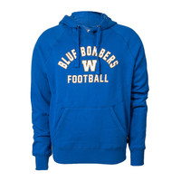 Arched Blue Bombers Pull Over Hoodie