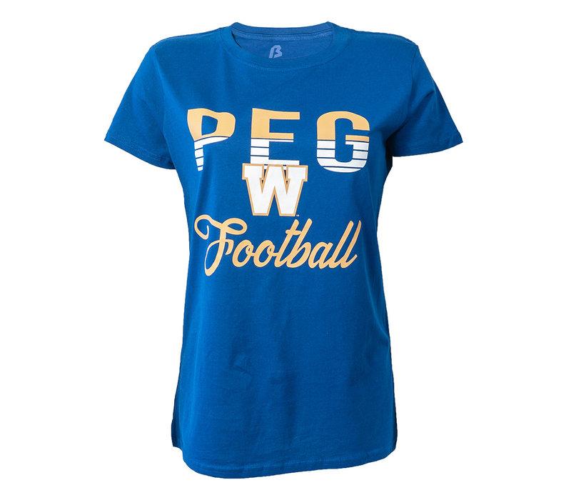 Women's - PEG W Football Tee