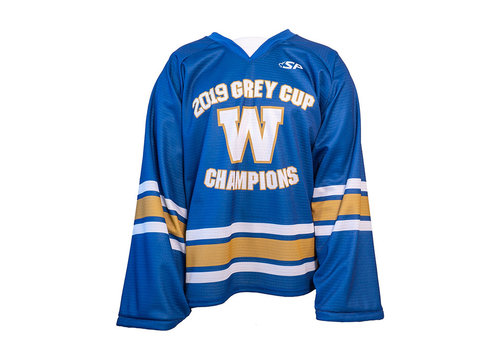 2019 Grey Cup Champions Hockey Jersey