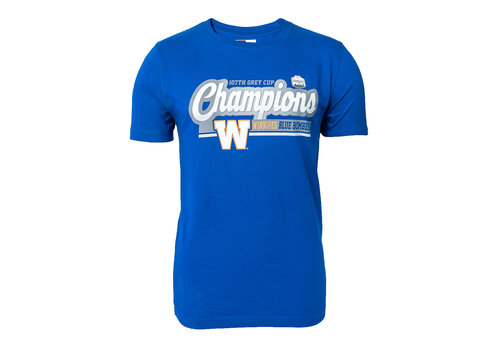 New Era Grey Cup Champs Blue Bombers T