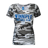 ESA WFC Women's Grey Camo V-Neck