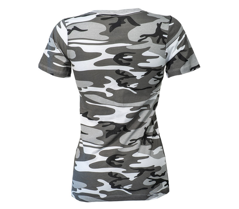 WFC Women's Grey Camo V-Neck