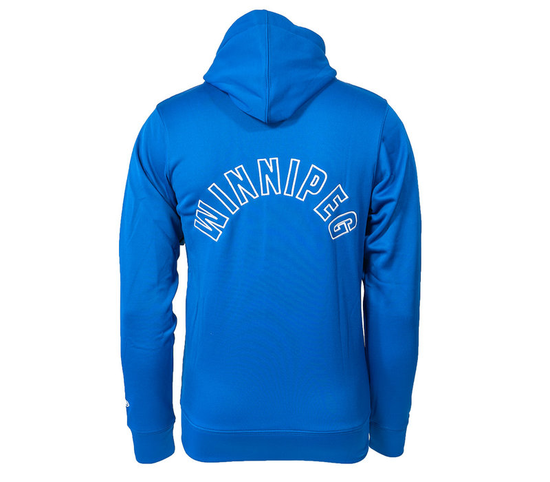 Arched Primary Blue Bombers Zip Up Hoodie