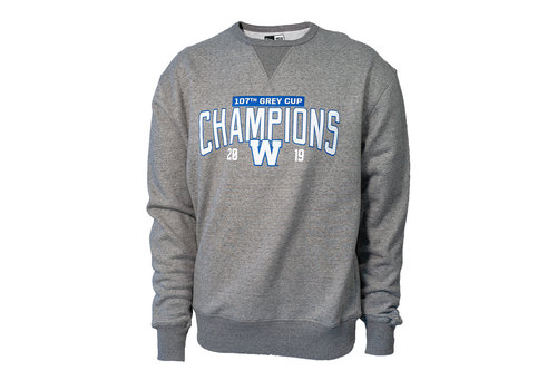 New Era Grey - Royal 107th Grey Cup Crewneck