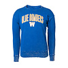 New Era Women's Arched Blue Bombers Cuffed Fleece Sweatshirt