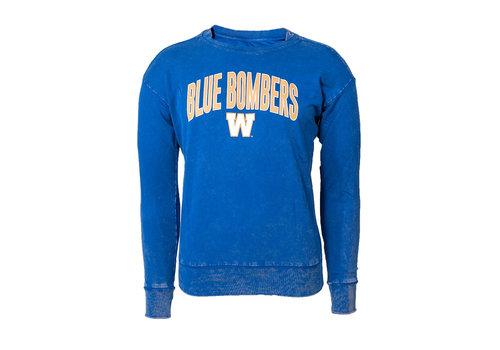 New Era Ladies Arched Blue Bombers Cuffed Fleece Sweatshirt
