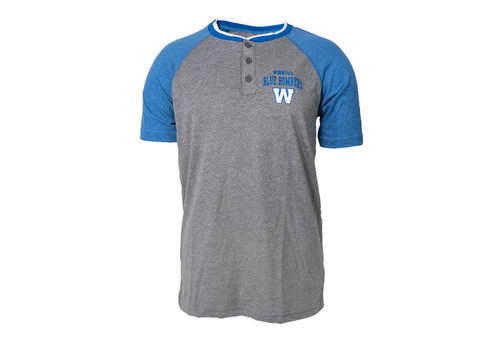 New Era 3 Button Henley Tee