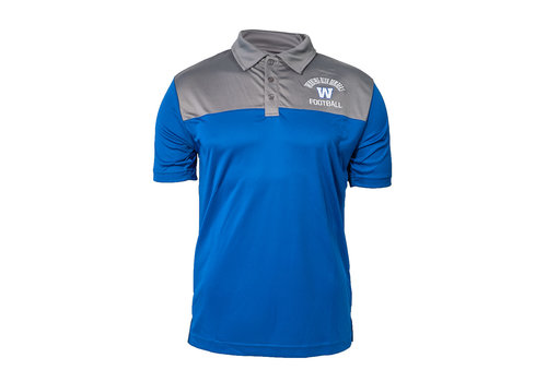 New Era Arched Winnipeg Blue Bombers Contrast Polo