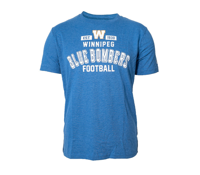 Distressed Blue Bombers Logo Tee