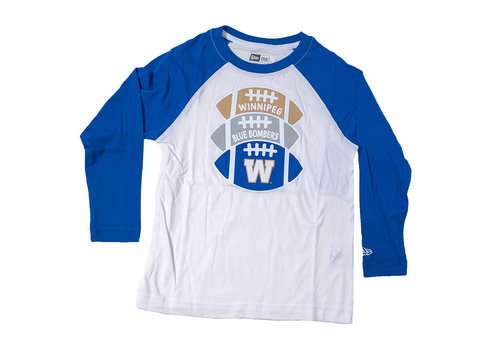 New Era Youth Footballs Logo Raglan Long Sleeve