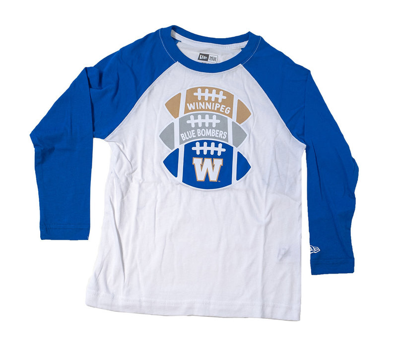 Youth Footballs Logo Raglan Long Sleeve