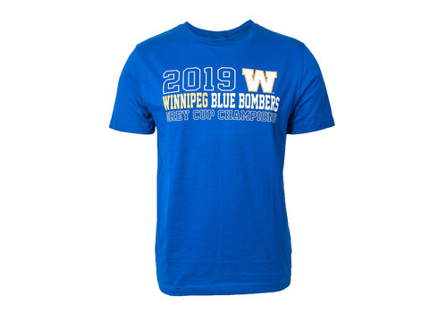 New Era Royal 2019 Grey Cup Champ Tee