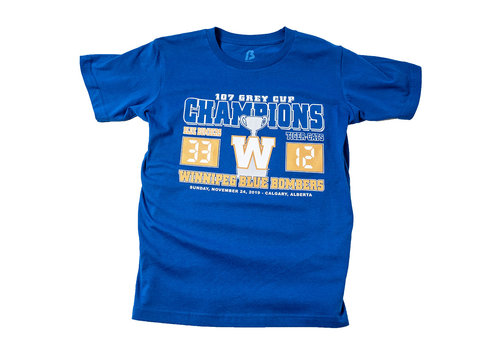 Bulletin Youth Royal Grey Cup Score Tee