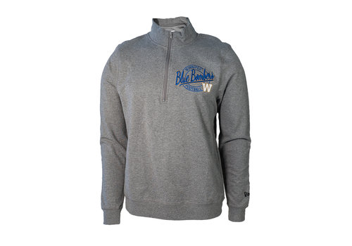 New Era Grey TriBlend 1/4 Zip Pullover