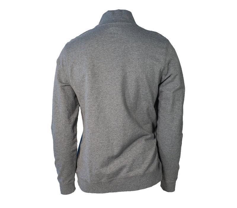 Grey TriBlend 1/4 Zip Pullover