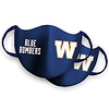 Blue Bombers Brand 2 Pack Royal W Logo Face Mask