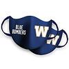 Blue Bombers Brand Pre-Order: 2 Pack Royal W Logo Face Mask