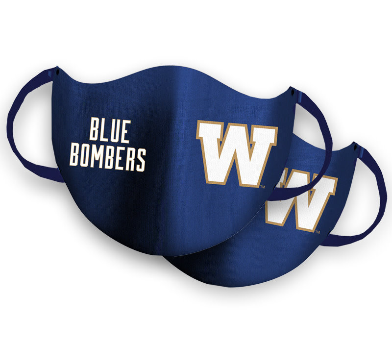 2 Pack Royal W Logo Face Mask
