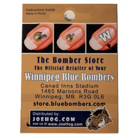 Blue Bombers Nail Decals