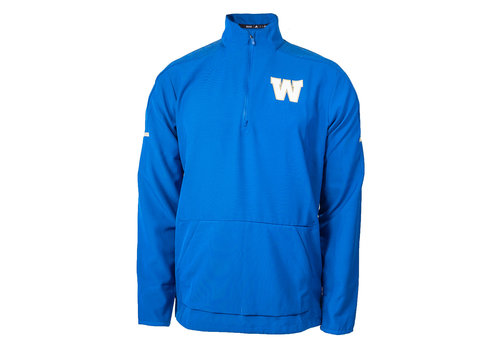 Adidas Royal L/S Sideline Woven 1/4 Zip