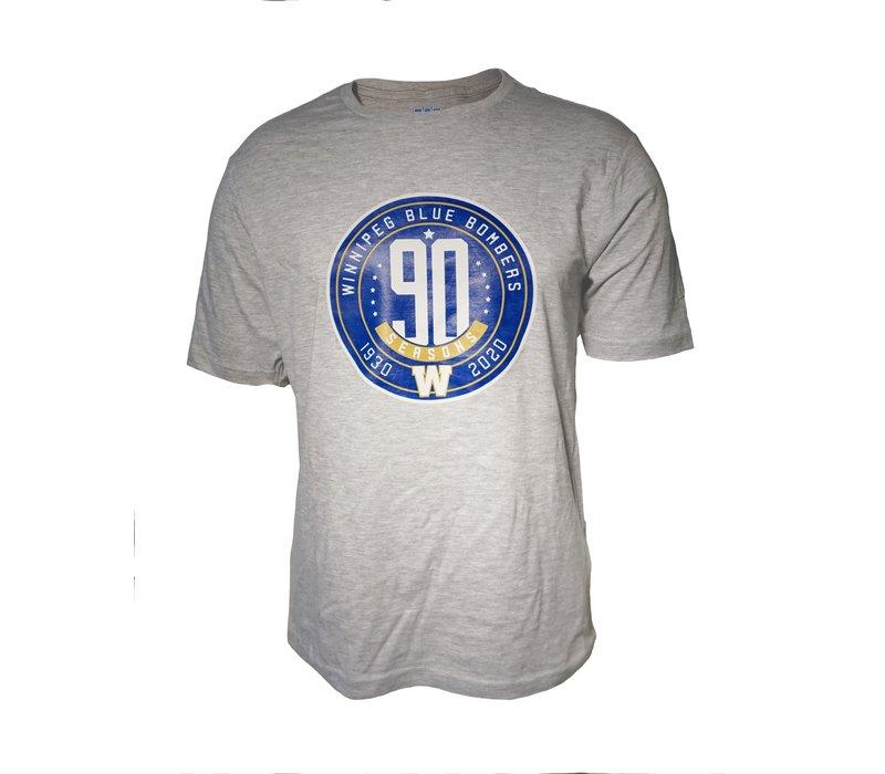 90th Season Anniversary Circle Logo Grey Tee