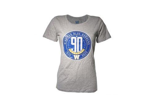 ESA Women's 90th Season Anniversary Circle Logo Grey Tee