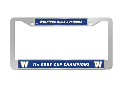The Sports Vault Licence Plate Frame 11x Grey Cup Champions