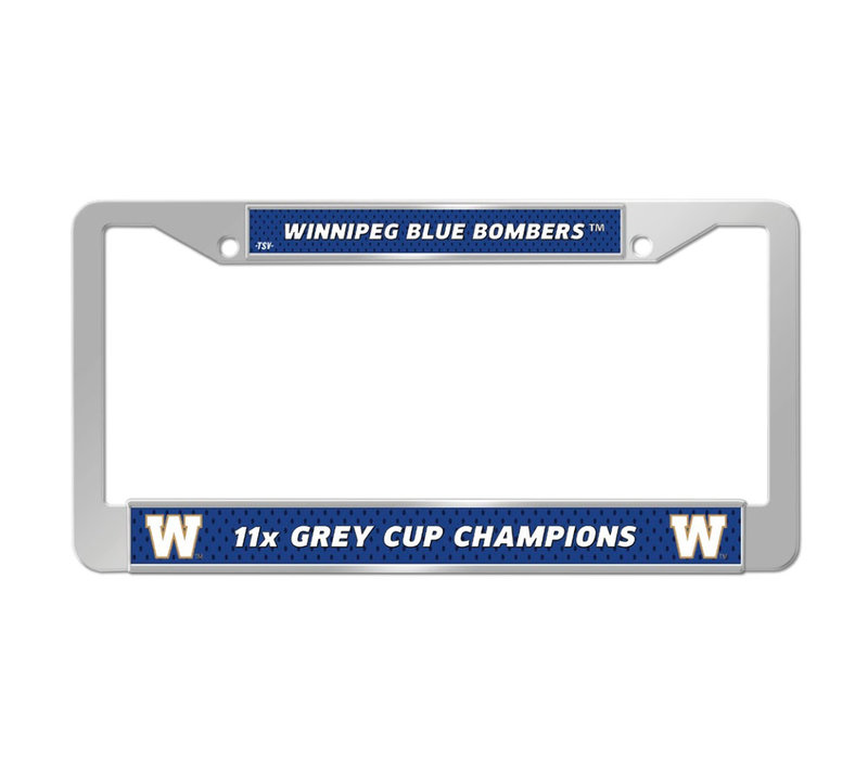 Licence Plate Frame 11x Grey Cup Champions