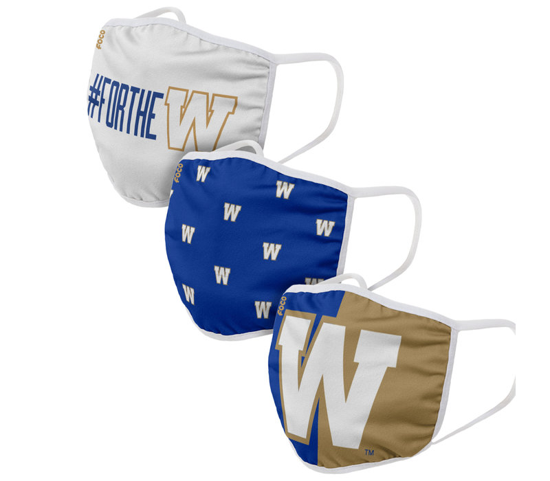 CFL Winnipeg Blue Bombers 3 Pack Face Cover