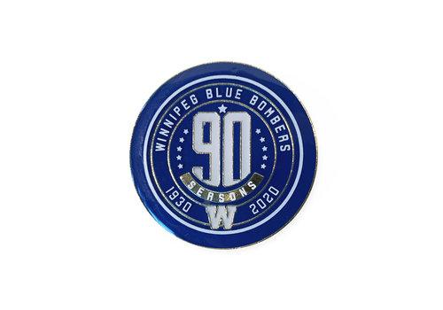 Blue Bombers Brand 90th Season Lapel Pin