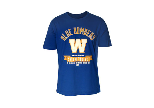 Blue Bombers Brand 11 Time  Grey Cup Champions Tee