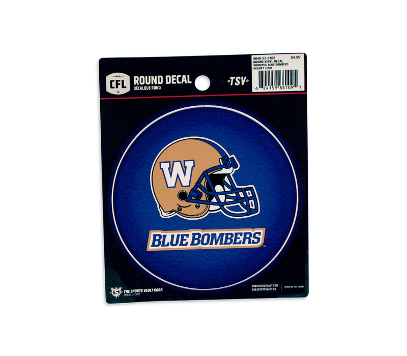 Helmet-BlueBombers Round Decal