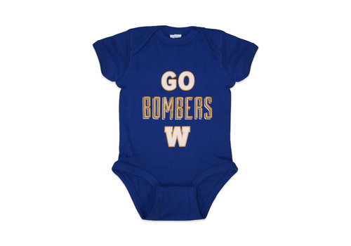 Blue Bombers Brand Go Bombers Royal One Piece Body Suit