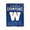 Gertex 11 Time Grey Cup Champions Travel Throw