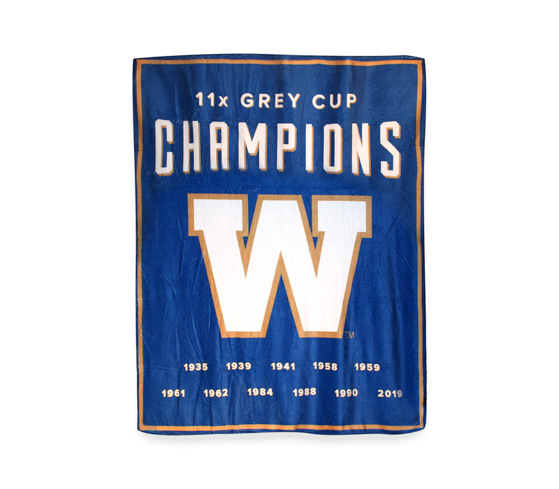 11 Time Grey Cup Champions Travel Throw