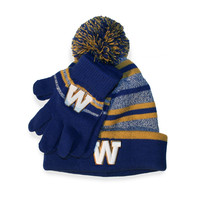 Boys Blue Bombers Toque and Glove Set