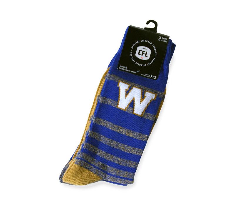 Men's 2 Pack Blue Bombers Dress Socks