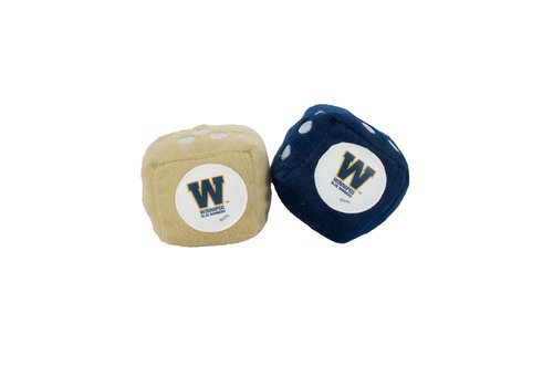 The Sports Vault Blue & Gold Fuzzy Dice