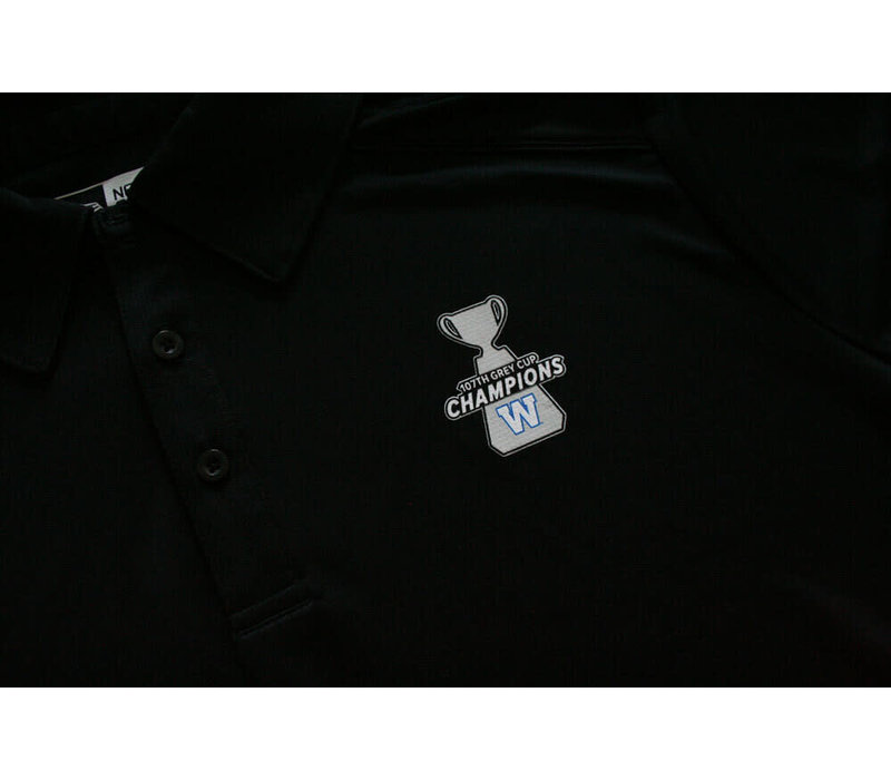 107th Grey Cup Champions Black Polo