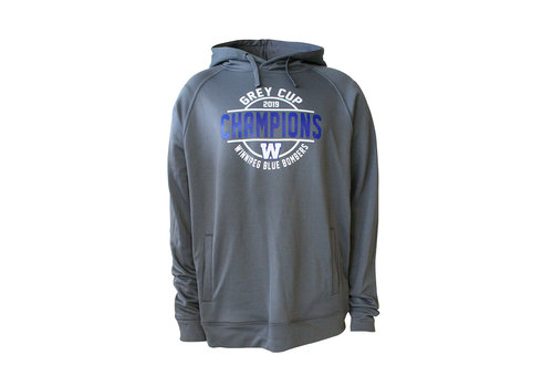 New Era Grey - Royal  Circle Grey Cup Hoodie