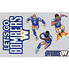 Blue Bombers Brand 11x17 Player Decals