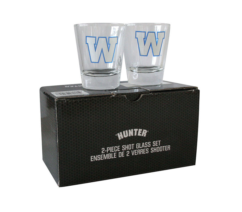 2 Pack Primary W Shot Glasses