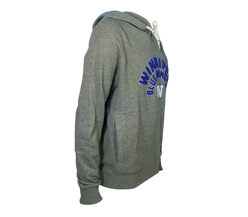 Mens Grey Long Loop New Era Hoodie