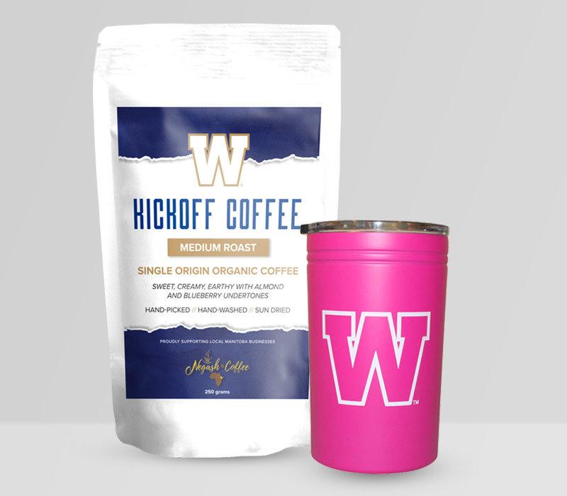 Ground Coffee & Pink Thermal Tumbler Gift Set
